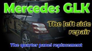 Mercedes GLK. Body repair. Ремонт кузова.