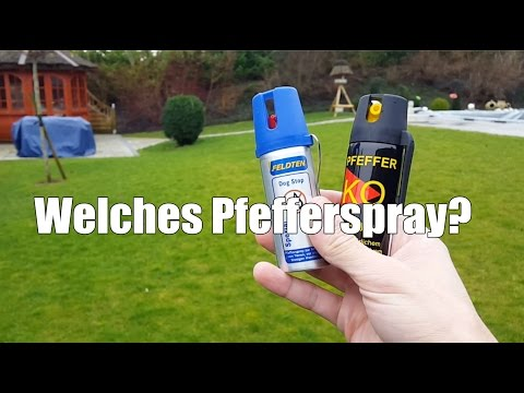 Welches Pfefferspray? CS Gas - KO Spray Test
