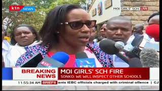 Beatrice Elachi condoles with families of students who died after fire outbreak in Moi Girls