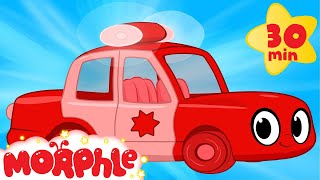 My Red Police Car  My Magic Pet Morphle Compilation With Police Vehicle Videos For Kids