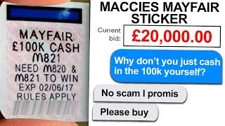 MESSING WITH MCDONALDS MONOPOLY SCAMMERS
