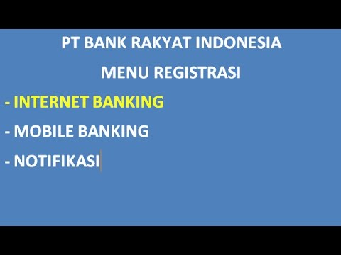 Video Cara Daftar Internet Banking Bri