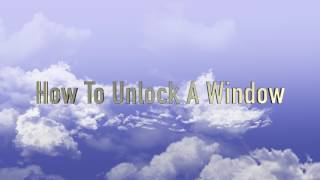 How To Unlock A Window HD 1080p