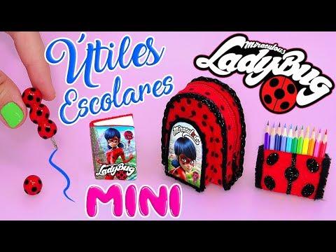 👩🏫🐞 MINI ÚTILES ESCOLARES de Miraculous Ladybug que ¡¡SÍ FUNCIONAN!! (Back To School) 🐞👨🏫✔