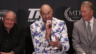 "TYSON FURY TO DEONTAY WILDER ""ILL BEAT YOU AGAIN! YOU WONT FIGHT ME AT 50% ANYMORE"""