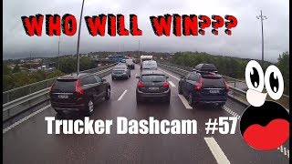 Trucker Dashcam #57 Who will win???