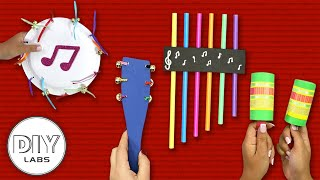 4 Easy MUSICAL INSTRUMENT CRAFTS To Enjoy Some Music! | Fast-n-Easy | DIY Labs