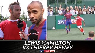 Lewis Hamilton vs Thierry Henry & Jamie Carragher | 5-A-Side Football Grudge Match!