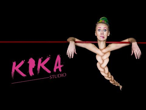 body painting this artists turns herself into a human braid by kika studio