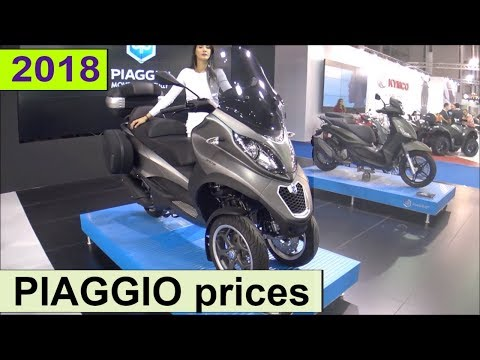 PIAGGIO scooter prices 2018