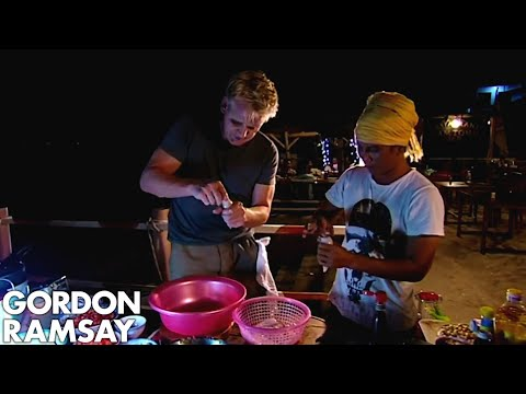 Gordon Ramsay Fishes & Cooks Squid | Gordon's Great Escape