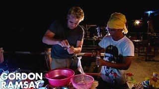 Gordon Ramsay Fishes & Cooks Squid   Gordon's Great Escape
