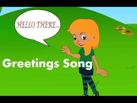 The greetings song for kids in english the greetings song for kids preschool english for kids m4hsunfo