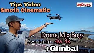 Cara buat video smoth pake drone mjx Bugs 4w 4k    Serasa Pakai Gimbal