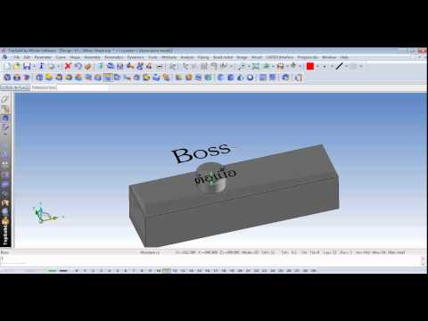 Boss by Shape Topsolid