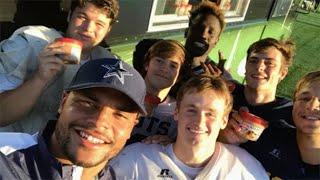 Prescott Practices With Highland Park Football Team
