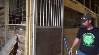 Horse Stall Building Part4/ Installing The Door