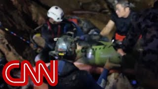 See first video of Thai boys' rescue from cave
