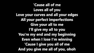 All Of Me (John Legend) Cover By Luciana Zogbi  Lyrics