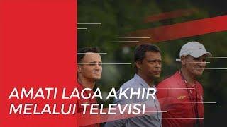 Jelang Final, Pelatih Persija Jakarta Amati Pertandingan Arema FC Vs Persebaya dari Televisi