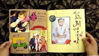 "Baby Girl ""First Year"" Handmade Scrapbook"