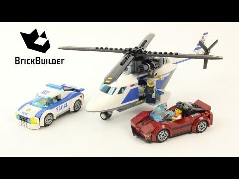 Vidéo LEGO City 60138 : La course-poursuite en hélicoptère