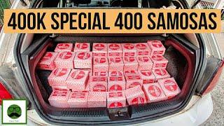400k Special 400 Samosa with Veggiepaaji | Indian Street Food