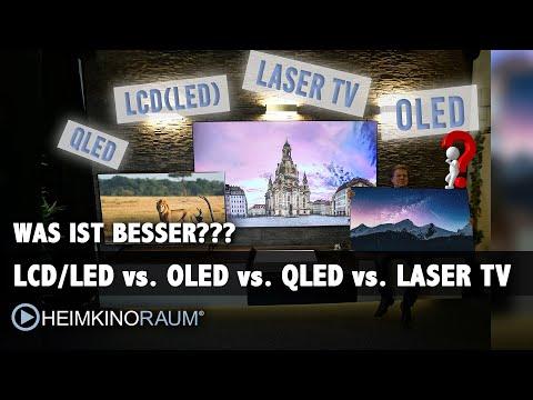 Was ist besser?? LCD TV? OLED TV? QLED TV? LASER TV? Wir zeigen die Zukunft des Fernsehens....