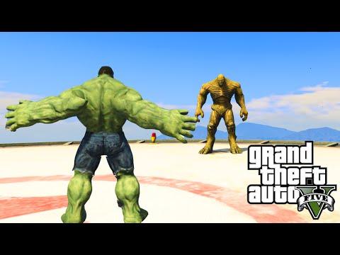 GTA 5 PC Mods - INCREDIBLE HULK VS  THE ABOMINATION! GTA 5