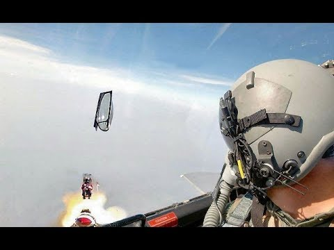 Pilots Eject From Fighter Jets at Last Moment I Compilation I