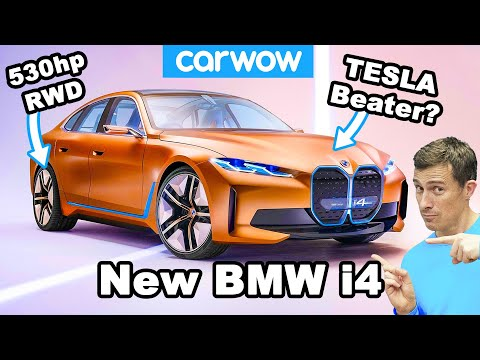 New BMW i4 - it's a 530hp German Tesla Model 3!