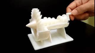 3Dプリンタージェットエンジン模型