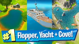 Visit Shipwreck Cove, Yacht and Flopper Pond Location - Fortnite Battle Royale