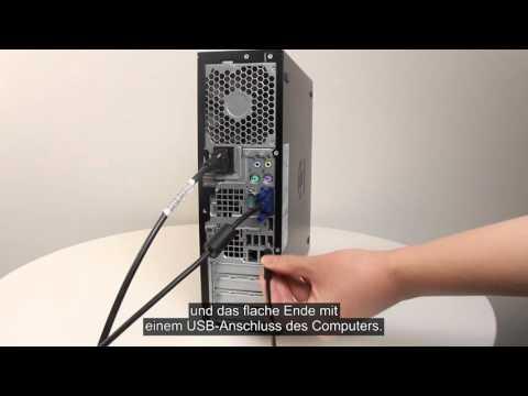 Installation eines Basistreibers für HP Drucker mit einer USB-Verbindung