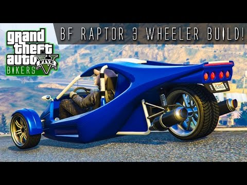 3 WHEELED BF RAPTOR BUILD & REVIEW!!! | GTA Online Bikers DLC
