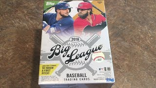 NEW RELEASE!  2018 TOPPS BIG LEAGUE BLASTER BOX OPENING (Opening Packs)