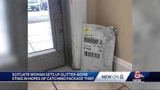 Package Thief Sets Off Woman's Glitter-bomb Trap