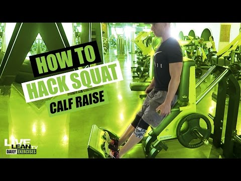 How To Do A HACK SQUAT CALF RAISE | Exercise Demonstration Video