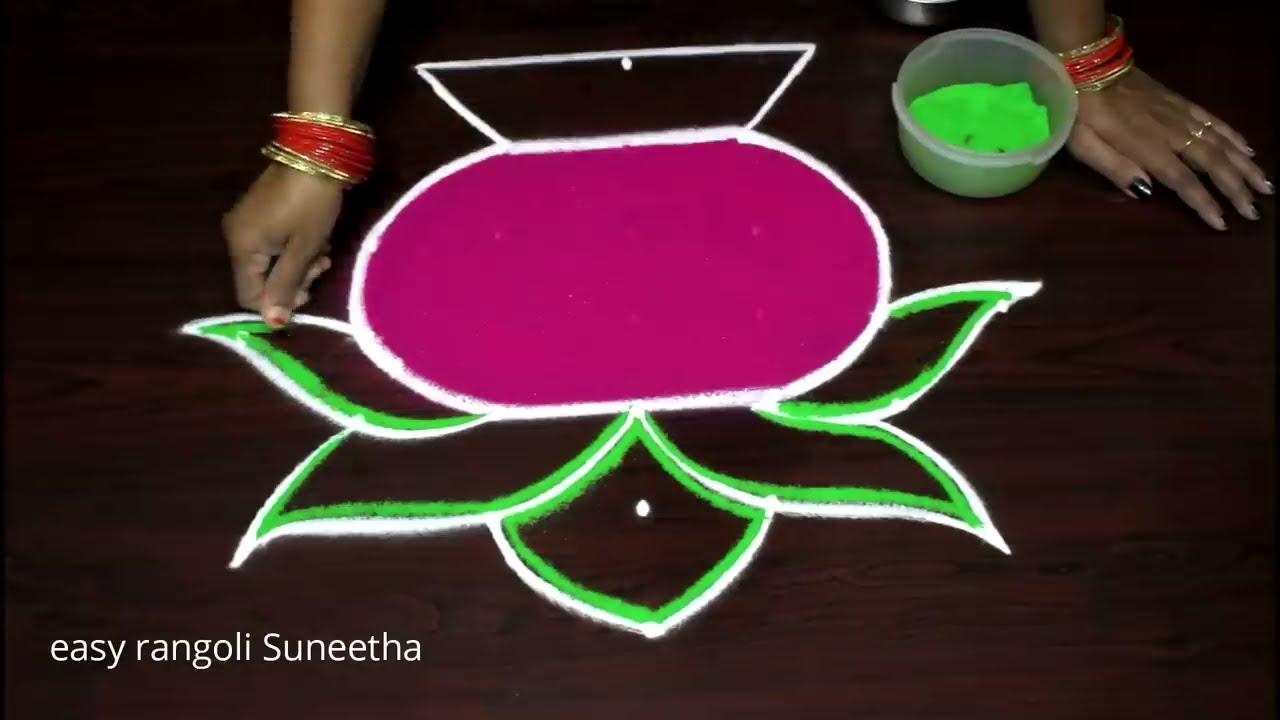 bhogi hindu festival rangoli design by suneetha