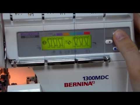 Оверлок Bernina 1300MDC белый - Видео