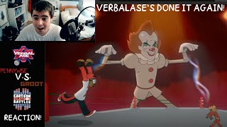 VERBALASE'S DONE IT AGAIN! Sammy G Reacts to Pennywise Vs Groot Cartoon Beatbox Battles by Verbalase
