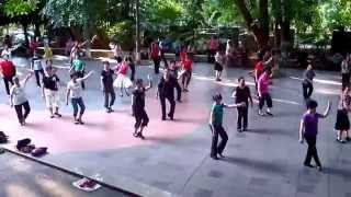 preview picture of video 'Chenese dancing in Rénmín Gōngyuán (People's park) in Haikou'