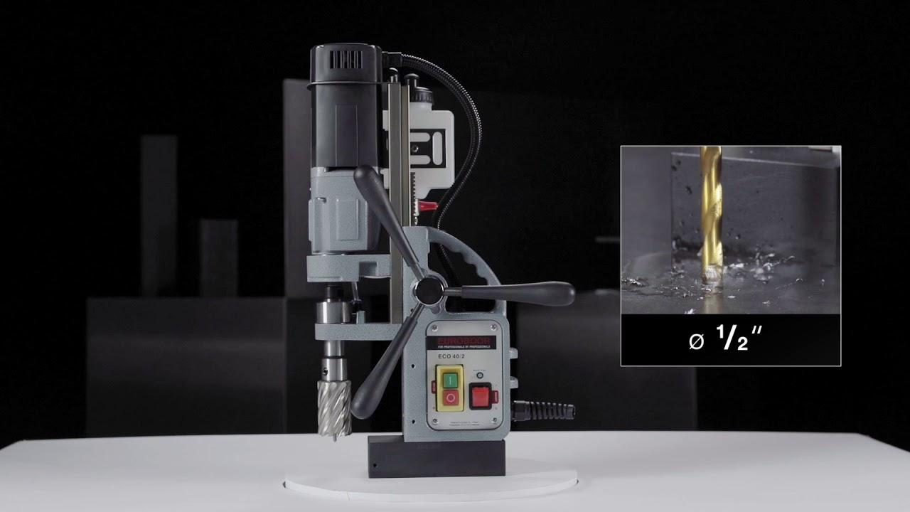 Сверлильный станок на магнитном основании, D 12-40 мм, 2 скорости