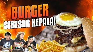 APA?! Makan Burger SeBESAR Kepala! Ft.TanboyKun Di Lawless Burger Bar