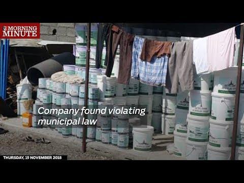 Company found violating municipal law