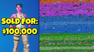 selling my fortnite account for $100,000...