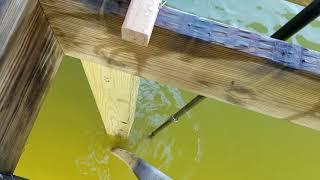 Dock Piling Installation Underwater - DIY With A Garden Hose Waterjet