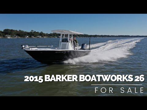 Barker Boatworks 26 Calibogue Bay video