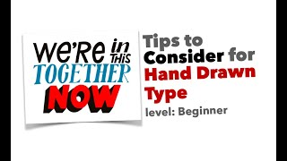 Tips To Consider For Hand Drawn Type