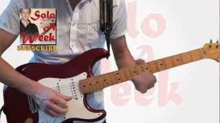 "Eric Johnson - ""High Landrons"" Guitar Solo and Lesson - SoloAWeek 31 - Solo a Week 31"
